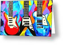 Fancy Guitars Greeting Card