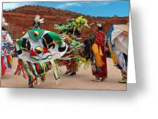 Fancy Shawl Dancer At Star Feather Pow-wow Greeting Card