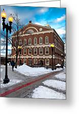 Faneuil Hall Winter Greeting Card