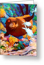 Fantasea Greeting Card by Barbara Stirrup