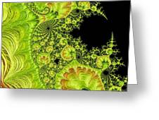 Fantastic Abstract On Black Greeting Card