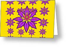 Fantasy Big Flowers In The Happy Jungle Of Love Greeting Card