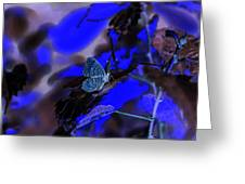 Fantasy Blue Butterfly Greeting Card