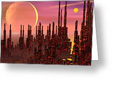 Fantasy City - 3d Render Greeting Card