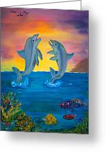 Fantasy Dolphins Greeting Card