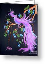 Fantasy Feather Bird Greeting Card