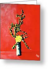 Fantasy Flowers Still Life #162 Greeting Card