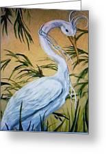 Fantasy Heron Greeting Card
