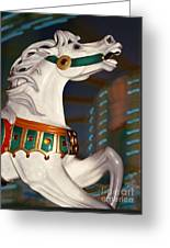 fantasy horses - Dappled Gray Dancer Greeting Card
