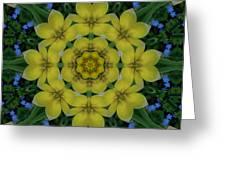 Fantasy Plumeria Decorative Real And Mandala Greeting Card