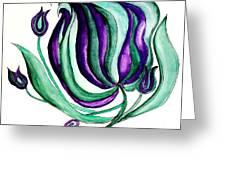 Fantasy Pod Flower Greeting Card