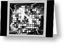 Fantasy Tiles Abstract Greeting Card