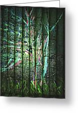 Fantasy Tree On Bamboo Greeting Card