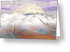 Fantasy Winter Landscape - 3d Render Greeting Card