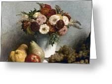 Fantin-latour: Fruits, 1865 Greeting Card
