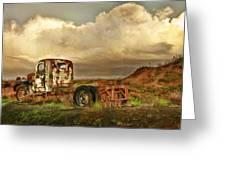 Far Rusted Truck Greeting Card