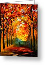 Farewell To Autumn Greeting Card