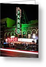 Fargo Nd Theatre At Night Picture Greeting Card
