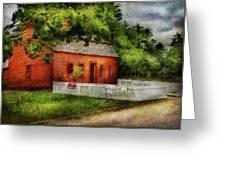 Farm - Barn - A Small Farm House  Greeting Card