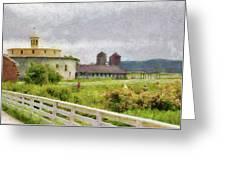 Farm - Barn - Farming Is Hard Work Greeting Card by Mike Savad