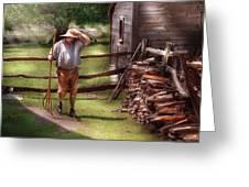 Farm - Farmer - Chores Greeting Card