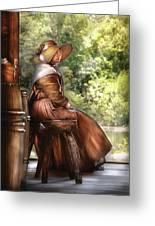 Farm - Farmer - Just Sitting Greeting Card