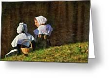 Farm - Farmer - The Young Maidens Greeting Card