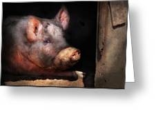 Farm - Pig - Piggy Number Two Greeting Card