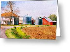 Farm Around The Corner Greeting Card