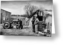 Farm Auction Greeting Card