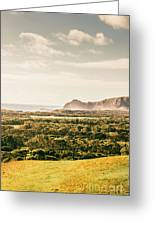 Farm Fields To Seaside Shores Greeting Card