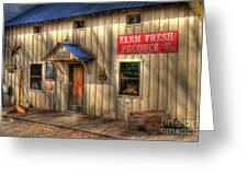 Farm Fresh Produce Greeting Card by Mel Steinhauer