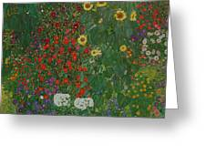 Farm Garden With Flowers Greeting Card