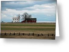 Farm House And Barn Greeting Card