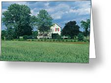Farm House And Spring Field, Maryland Greeting Card
