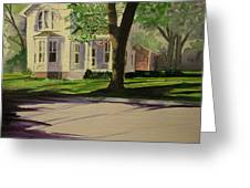 Farm House In The City Greeting Card