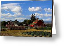 Farm House Greeting Card by Scott Brown