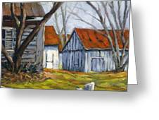 Farm In Berthierville Greeting Card