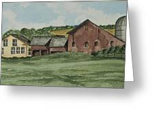 Farm In Summer Greeting Card