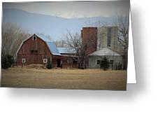 Farm In The Foothills Greeting Card
