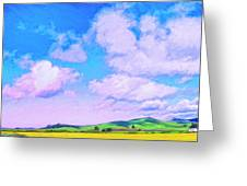 Farm Near San Luis Obispo Greeting Card