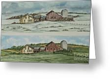 Farm Of Seasons Greeting Card