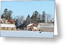 Farm On Echo Avenue Greeting Card