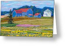 Farm On Prince Edward Island Greeting Card