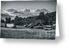 Farm On The Blue Ridge Greeting Card