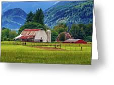 Farm, Randall, Wa Greeting Card