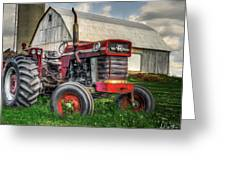 Farm Scene - Painting Greeting Card