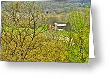 Farm Seen From Culp Hill Lookout In Gettysburg National Military Park-pennsylvania Greeting Card