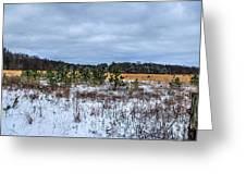 Old Farm Field Li.ny Greeting Card