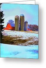 Farm Up Yander Greeting Card